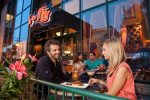 Eating on the patio at Fire Fly